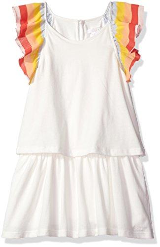 Chloe Girls' Rainbow Ruffles Dress Kid, Off White, 5Y by Chloe