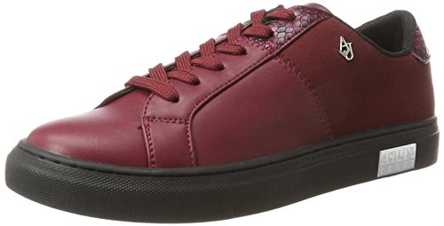 Bassa Amarante Emporio Rouge Sneaker Basses Armani Femme HwEETx8v