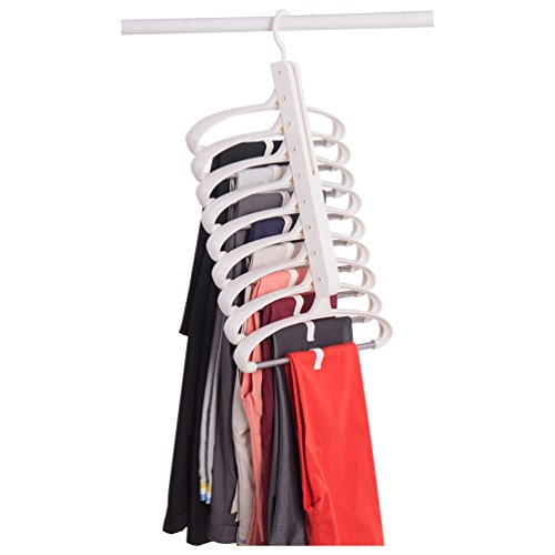 Baoyouni Foldable Clothes Hanger Closet Storage Organizer No