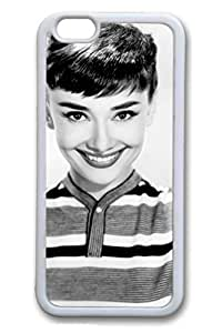 TPU White Color Soft Case For iPhone 6 And Many Design iPhone Case Latest style Case Suit iPhone 6 4.7 Inch Very Nice And Ultra-thin Case Easy To Operate Audrey Hepburn 197