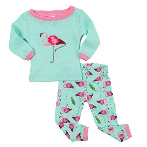 Leveret Matching Doll & Girl Flamingo 2 Piece Pajama Set 100% Cotton Size 10 Years by Leveret (Image #4)
