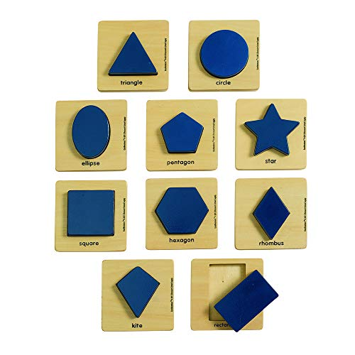 Excellerations WSHAPES Wooden Shape Puzzles (Pack of -