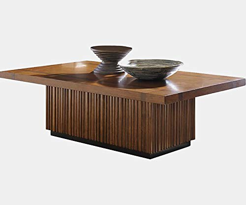 - Wood Coffee Table - Coffee Table with Disciplined Lines - Brown