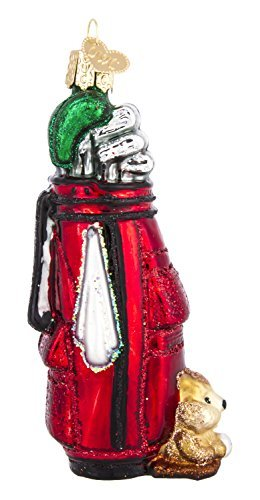 (Old World Christmas Ornaments: Golf Bag Glass Blown Ornaments for Christmas Tree)