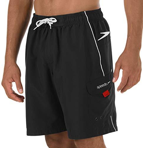 Speedo Men's Marina Core Basic Watershorts, Black, - Men Swimwear Speedo