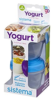 Sistema To Go Collection Yogurt Food Storage Containers, 4-Piece (B00JUNPEXQ) | Amazon Products