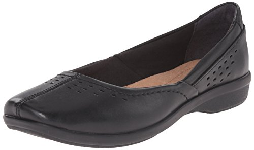 CLARKS Women's Haydn Shipper, Black Leather, 8 M US