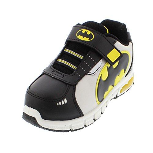 Batman Boys Lighted Sneaker Shoes (9 Toddler M, Batman Black/Grey) (Batman For Toddlers)