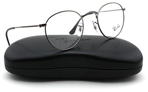 Ray-Ban RX3447V Round Metal Unisex Eyeglasses Matte Gunmetal 2620, - Round Ray Ban Glasses