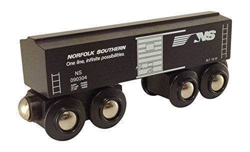 Norfolk Southern Black Boxcar magnetic wooden