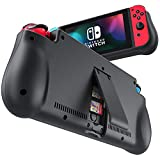 NEWDERY External Battery Station for Nintendo Switch, 10000mAh Backup Charger Case Support PD Quick Charging with 2 Extra Game Card Slots Adjustable Kickstand for Nintendo Switch (Color: Black)