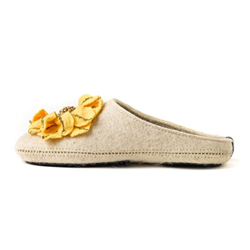 Comfortable Support for For Daisy with and Arch Flower You Slip Insole Rubber Women with Made Sole Handmade Non Wool Slippers xvUdwqqI