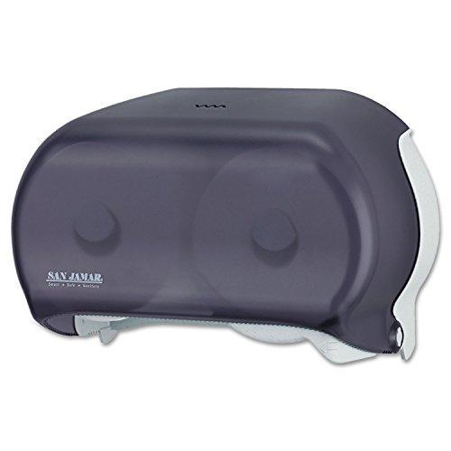 Tissue Standard Versatwin Dispenser - San Jamar R3600TBK VersaTwin Tissue Dispenser, 8 x 5 3/4 x 12 3/4, Transparent Black Pearl