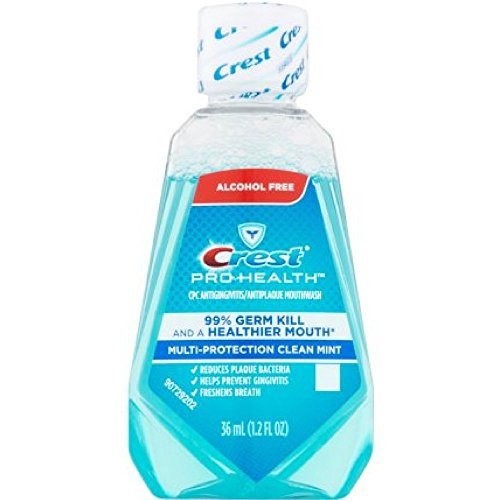 Protection Clean Mint - Crest Pro-Health Mouthwash, Alcohol Free, Multi-Protection Clean Mint 1.2 oz (Pack of 48)