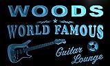 pf1107-b Woods Guitar Lounge Beer Bar Pub Room Neon Light Sign