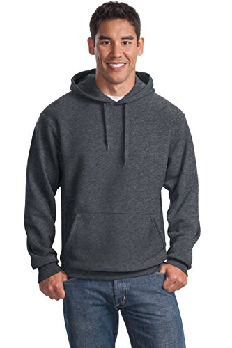 - Sport-Tek Men's Super Heavyweight Pullover Hooded Sweatshirt M Graphite Heather