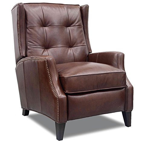 Chocolate Low Leg Recliner - Barcalounger Lincoln II All Top Grain Leather Recliner Chair - Shoreham Chocolate