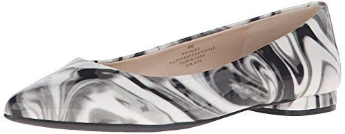 Nine West Women's Onlee Synthetic Pointy Toe Flat, Grey Marble, 36.5 B(M) EU/4.5 B(M) UK