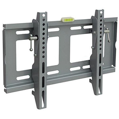 Han Shi- TV Wall Mount, Silver Finished 19-43 inch TV Bracket for Universal LED LCD Plasma HDTV, 400x300 mm Extension, 110lbs Weight Capacity, Full Motion