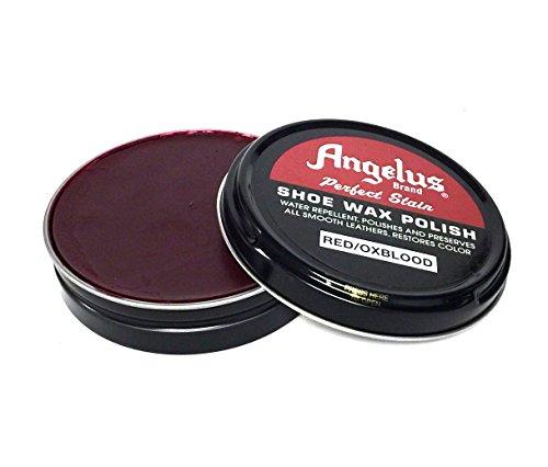 Angelus Perfect Stain SHoe Wax Polish, 2.6oz (Oxblood) ()