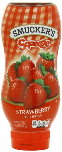 Smuckers Squeeze Strawberry Fruit Spread  20 Ounce  Pack Of 12
