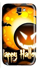 Samsung Note 2 Case Happy Halloween 3D Custom Samsung Note 2 Case Cover