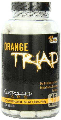 Controlled Labs Orange Triad: multivitamines, mixte, la digestion et immunitaire, 270-Count Bottle