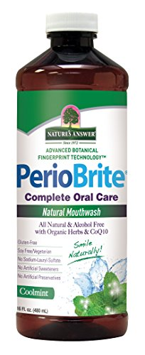 Price comparison product image Nature's Answer PerioBrite Alcohol-Free Mouthwash, Cool Mint, 16-Fluid Ounce