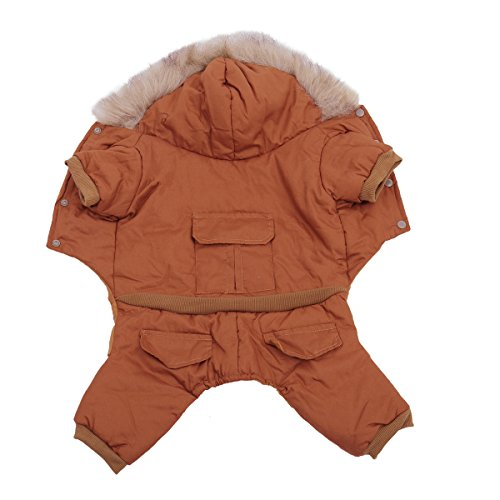 PAWZ Road Pet Clothes Hoodie Dog Winter Coat Warm Jacket Super Warm and Strong Orange S by PAWZ Road (Image #5)