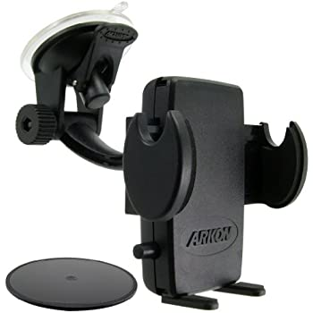 Arkon Windshield and Dash Car Phone Holder Mount for iPhone 7 6S 6 Plus 7 6S 6 Galaxy Note Retail Black