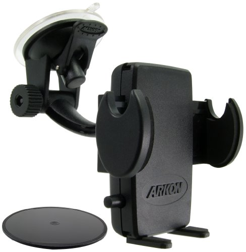 (Arkon Windshield and Dash Car Phone Holder Mount for iPhone X 8 7 6S 6 Plus 8 7 6S 6 Galaxy Note Retail Black)