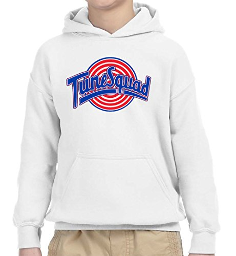 New Way 487 - Youth Hoodie Tune Squad Space Jam Basketball Team Unisex Pullover Sweatshirt Large White