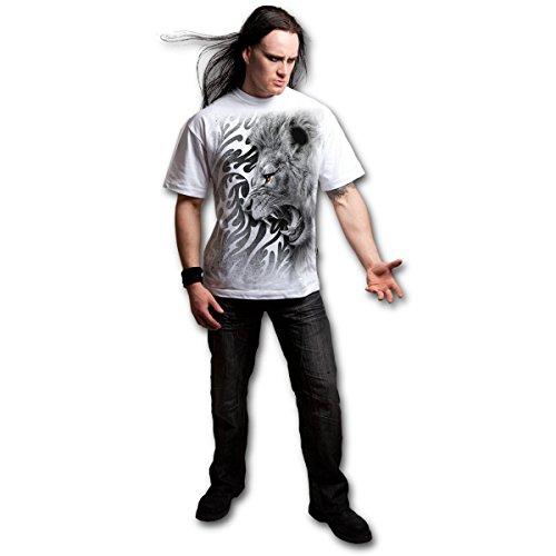 Männer T-Shirt SPIRAL -Tribal Lion - E020M113