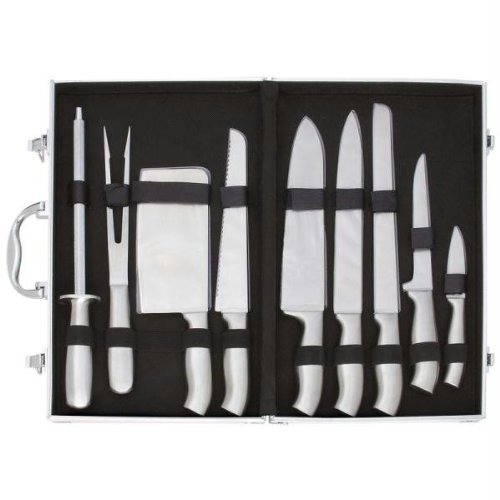 Slitzer CTCASE10 10 piece Stainless Steel Cutlery Set in Case Combo Set