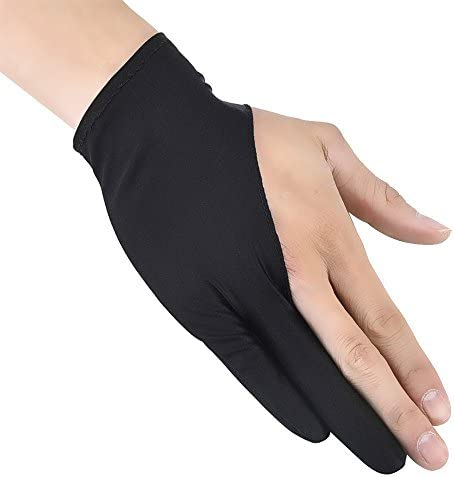 1pc Two Finger Anti-fouling Glove For Artist Drawing /& Pen Graphic Tablet PC Pip
