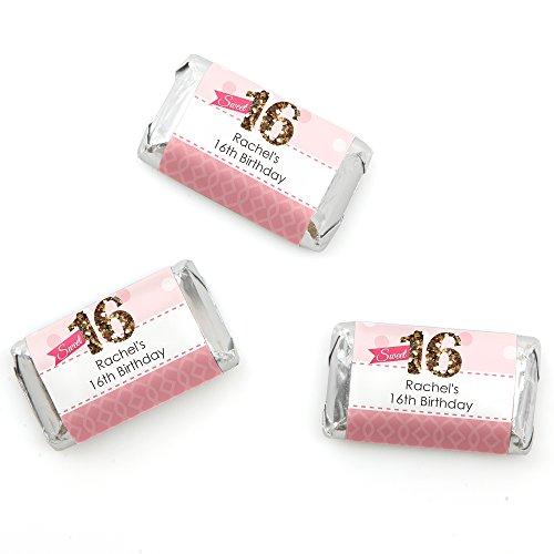 Sweet 16 Birthday Candy Bar - 5