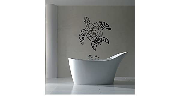 Wall Vinyl Sticker Bedroom turtle sea ocean water deep bathroom beautiful bo2632