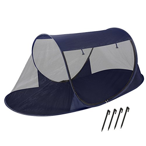 - Pop Up Mosquito Net - Portable Travel Mosquito Net for Adults, Foldable Bug Net Tent with Carry Bag, Ideal for Camping, Trekking, Backyard Use, Fits 1 Adult, Navy Blue, 86.6 x 33.4 x 31.5 Inches