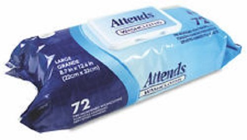 Attends Attends Pre-Moistened Washcloths Convenience Pack 8X11 - - Model wccp1000 by Attends