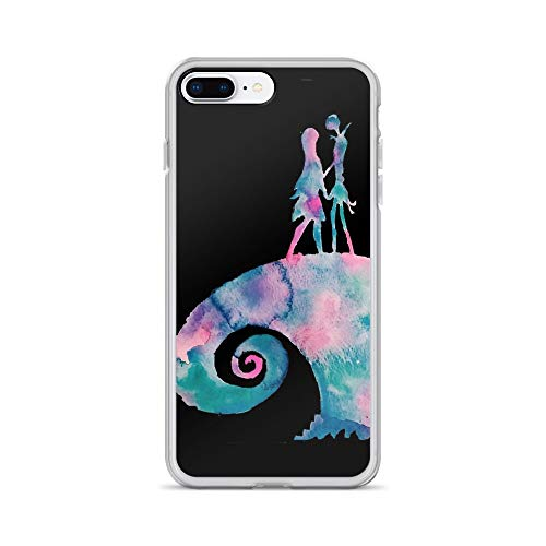 iPhone 7 Plus/8 Plus Pure Clear Case Cases Cover Watercolor Nightmare (Black) -