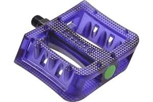 Primo - Pedales para bicicleta ( plástico, perfil bajo ), color morado transparente