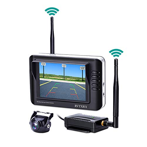 Wireless Backup Camera System Kit, 3.5 inch Color Monitor and 170 Wide Angel Waterproof HD Universal Reverse Back up Rear View Car Camera for Ford Jeep, Truck, Van, SUV,Pickup, trailer, Rv etc.