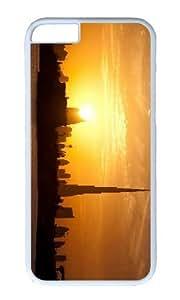 MOKSHOP Adorable dubai sunset skyline Hard Case Protective Shell Cell Phone Cover For Apple Iphone 6 (4.7 Inch) - PC White
