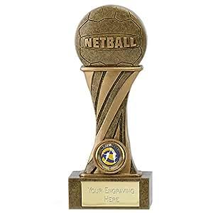 "5.5""Netball trofeo con grabado gratis hasta 30letras"
