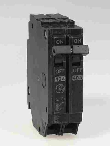 General Electric THQP240 Circuit Breaker, 2-Pole 40-Amp Thin Series by Connecticut Electric