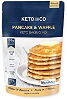 Keto Pancake & Waffle Mix by Keto and Co | Fluffy, Gluten Free, Low Carb Pancakes | 2.0g Net Carbs per Serving | No Sugar...