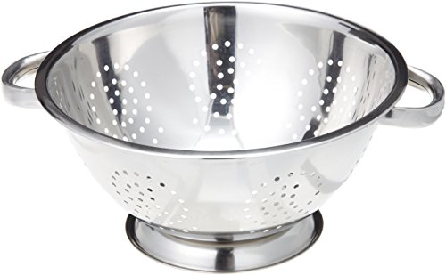 Stainless Steel Large Colander - ExcelSteel 242 5-Quart Stainless Steel Colander