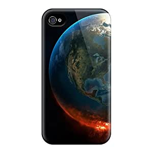 Iphone 4/4s Cases Slim [ultra Fit] Outer Space Earth Knowing Protective Cases Covers