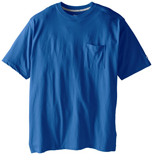 Champion Men's Big-Tall Jersey Pocket T-Shirt, Columbia Blue, 4X