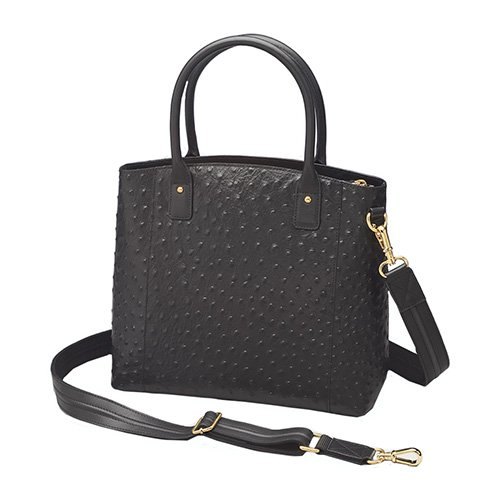 Concealed Carry Purse - Concealment Ostrich Town Tote by Gun Tote'n Mamas - Black